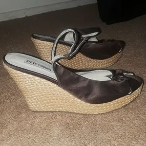 Steve madden brown wedge heels